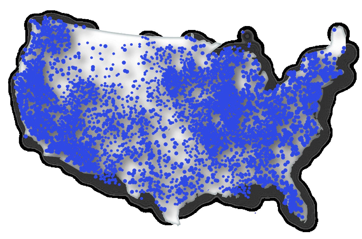 FlexTG USA Service Area Map